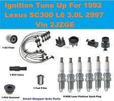 Ignition Tune Up for 1992 Lexus SC300 Laser Platinum Spark Plug, Cap Rotor Filte