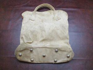 Vintage Rawlings Canvas Ball Bag- Lineman's Bag. Heavy Canvas, Metal Feet.