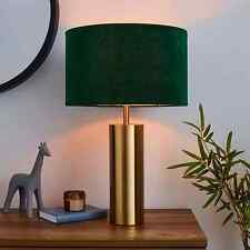 Nesa Brushed Gold And Bottle Green Touch Table Lamp NEW