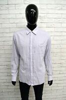 Camicia DOCKERS Uomo Taglia Size XL Maglia Chemise Top Shirt Man Viola Cotone
