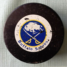 Buffalo Sabres Puck 1987-92 Ziegler General Tire Small Logo Game Used Puck NHL