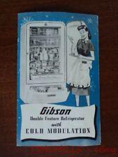 1948 Gibson Refrigerator Home Freezer Catalog Brochure Vintage Original VG