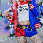 Halloween Adult Harley Quinn Cosplay Costume Suicide Squad Shorts Fancy Dress