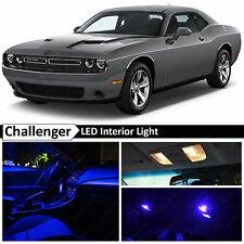 2015-2017 Dodge Challenger Blue Interior + License Plate LED Lights Package Kit