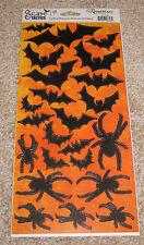 Reminisce Die Cut Sticker Sheet ~ Halloween Scare Tactics....Bats/Spiders.