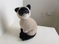 "Vintage 1980 Fun Farm SIAM CAT 12"" Plush Stuffed Animal"