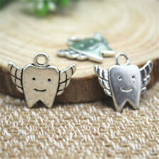 15pcs Tooth fairy charms silver tone Tooth fairy charms pendants 20x18mm