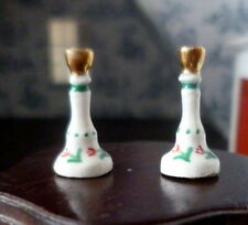 WONDERFUL Vintage Hand Painted China CANDLESTICKS 1:12 Dollhouse Miniature
