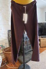 Laura Ashley 16 Pure Linen BNWT -Wide Leg Purple / Wine  - Day / Night Cool Wear