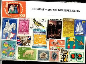 URUGUAY 500 DIFFERENT STAMP COLLECTION MNH/USED LOT SELECTED PACKET