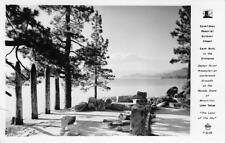 RPPC Donaldson Chapel LAKE TAHOE, NV Zephyr Point 1955 Vintage Frashers Postcard