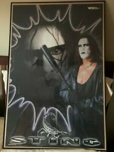 """Sting WCW Wrestling Vintage Late 1998 Poster 22.5""""W x 34.5""""H Used Pre-Owned"""