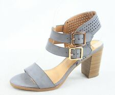 NEW Women's Summer Double Buckles Open Toe Chunky Heel Sandals Size 5.5 - 11