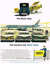 Vintage 1959 Magazine Ad Hertz Rent A Car Is Where You Are Wherever In The World