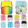 Baby Cloth Nappies Printing Adjustable Reusable pocket diapers cover 3-15KG