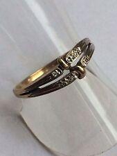 Ring mit fünf kleinen Diamanten  Gold 333 Gelbgold Gr. 55 - 17,5 mm