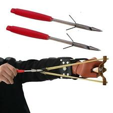 Powerful Hunting Tool Sniper Slingshot Folding Catapult Wrist Fishing Broadheads