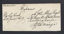 Prince William of Orange First King of the Netherlands 1813 Signed End of Letter