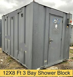 12 X 8Ft Portable Shower Block Container Anti Vandal Cabin Welfare Unit Camping
