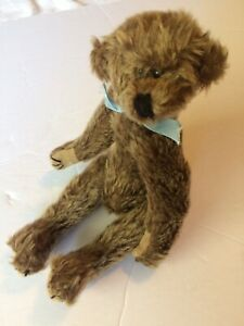"""Judith Tofp 10"""" Wee """"Will"""" Teddy Bear with  Blue Bow"""