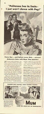 1940 Vintage ad for Mum/Prevent Underarm Odor with Mum/Art/40's fashion (070813)