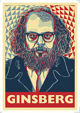 Allen Ginsberg - Beat Poet, Buddhist, Pothead - a Poster by Atelier Bagatelle