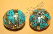 Tibetan beads tibet beads Turquoise beads  2 Nepalese Beads BDS122 Nepal Beads
