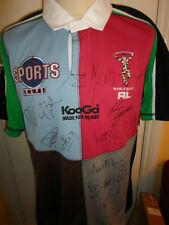 2008 Squad Signed Harlequins RL Broncos Rugby Super League Shirt with COA