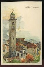 Switzerland LUGANO St Lorenzo Manuel Wielandt artist drawn early PPC