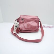 NWT Kipling AC8281 Sabian Crossbody Mini Shoulder Bag Flourishing Pink Metallic