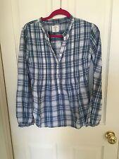 H&M Azul Camisa a cuadros, talla 10