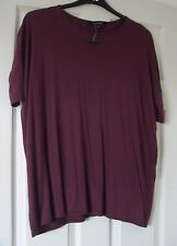 *NEW* NEW LOOK SIZE 6 LOVELY WOMEN'S BOXY TOP CLARET / BURGUNDY