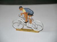 FIGURINE STARLUX CYCLISTE TOUR DE FRANCE BLANC ET GRIS FONCE