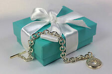 NEW Tiffany & Co. Toggle Chain Bracelet 7.5 Inch MEDIUM Sterling Silver 925