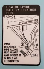 RD250C BATTERY WARNING DECAL