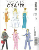 """Dress Pants Gown Barbie 11 1/2"""" Doll Clothes Sewing Pattern McCalls 6258"""