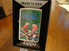 PARROTS COSTA RICA ZIPPO LIGHTER MINT IN BOX