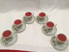 Avon Strawberry Cup and Saucer Set -  set of 6   1978