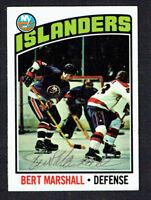 Bert Marshall #62 signed autograph auto 1976-77 Topps Hockey Trading Card
