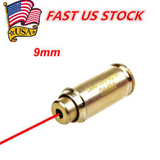 9mm Red Dot laser Bore Sight Boresight CalibratorCartridge Boresighter&battey US