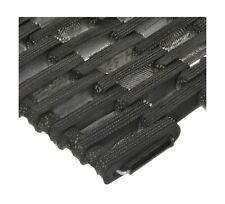 Durable Outdoor Entrance Mat Straight Weave Recycled tires Indestructible Black