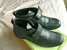 Flex & Soft Black Leather Shoe Ankle Boots, Size 6,  Boxed