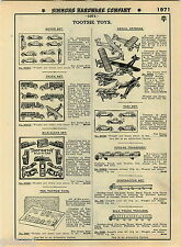 1935 ADVERT Tootsie Toy Toys Tootsietoy Streamline Train Doll House Furniture +