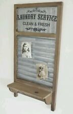 Magnetic Notice Board hooks shelf shabby vintage chic kitchen memo home