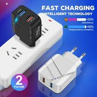 KQ_ Dual USB 28W 3.1A QC3.0 Fast Charging Quick Charger Adapter for iPhone Suams
