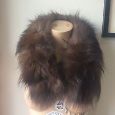 Vintage Silver Fox Large Fluffy Scarf Stole Collar Vintage Antique Taxidermy 40s