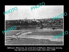 OLD POSTCARD SIZE PHOTO OF STILLWATER MINNESOTA PANORAMA OF THE TOWN c1910