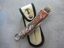 Couteau champignon manche bois impression 3D avec étui de ceinture