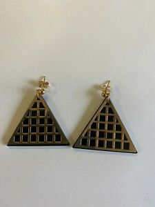 ASOS - Gold Tone Triangle Drop Earrings - Brand New Without Tags