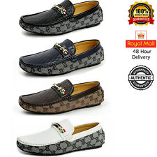 Mens Slip On Loafers Designer Smart Casual Driving Moccasin Italian Shoes Size